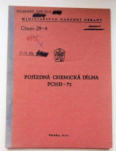 Předpis ČSLA Pojízdná chemická dílna PCHD-72