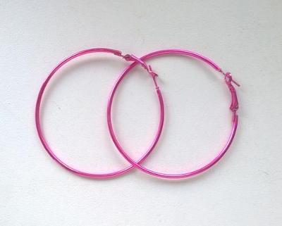 Krásné Náušnice Kruhy Růžové