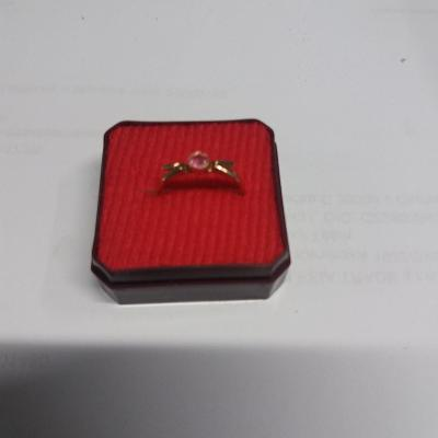 Zlatý prsten Au 583 , 1,56 g, punc SSSR vnitřní průměr 9 mm