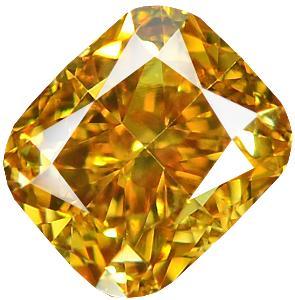 Přírodní barevný diamant 0,38 ct, Si1, Fancy Orange + CERTIFIKÁT ČGL