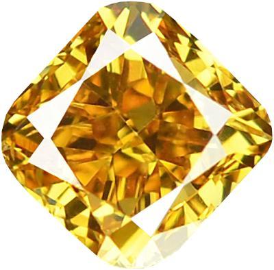 Přírodní barevný diamant 0,26ct, SI2, Intense Orange + CERTIFIKÁT ČGL