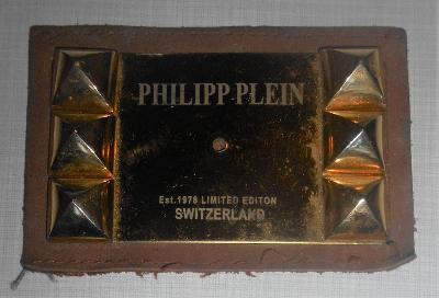 KOVOVÝ ZNAK - PHILIPP PLEIN est. 1978 LIMITED EDITION SWITZERLAND