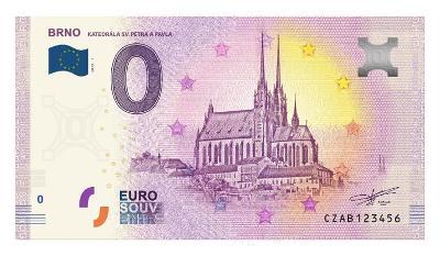 0 euro bankovka Brno