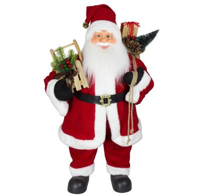 Vánoční dekorace Santa Ježíšek v červeném kabátku 80 cm