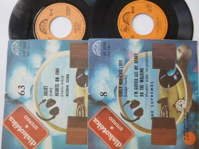 2 SP ROBIN GIBB Juliet + HeartsOn Fire / SUPREMES Early Morning Love