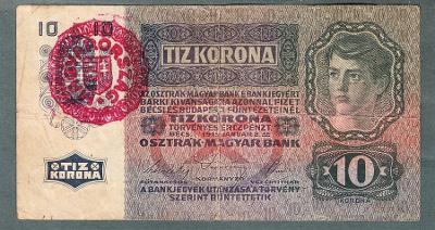 10 korun 1915 MAĎARSKO razítko MAGYARORSZAG