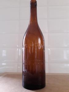 Stará sběratelská pivní lahev Březnice č.4