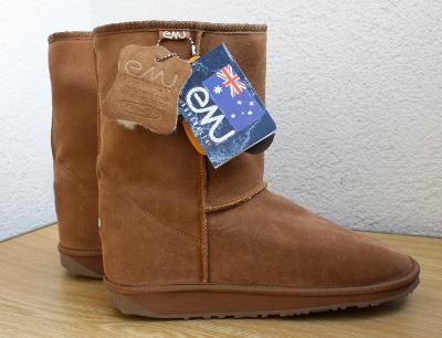 Zimní boty značky EMU - sněhule, velikost US 9; EU 42,5; 27 cm