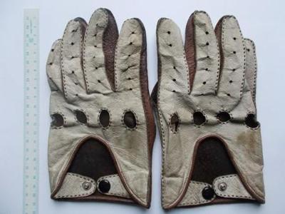 kožené rukavice motoristické - na veterána, 1930 až 1960 - 1 pár