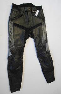 Kožené kalhoty MQP- vel. 48/S, chrániče boků, kolen