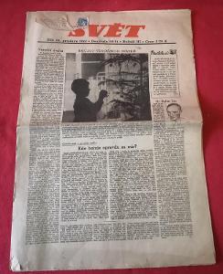 Staré noviny Svět č.50-51/1944...(9795)
