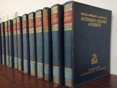 Handbuch der geographischen Wissenschaft - Klute - 12 krásných knih
