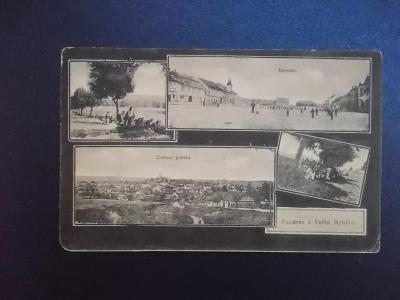 Brno venkov Velká Byteš stará pohlednice koláž