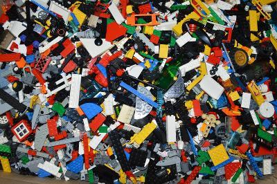 lego díly kostky mix - 1 kg
