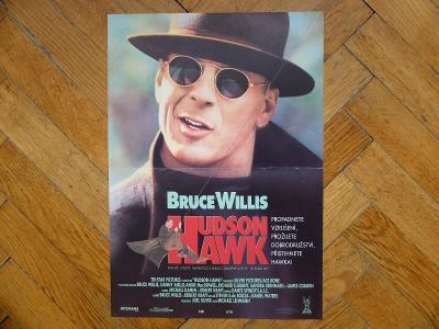 HUDSON HAWK 1991 BRUCE WILLIS FILMOVÝ PLAKÁT A3 90. LÉTA
