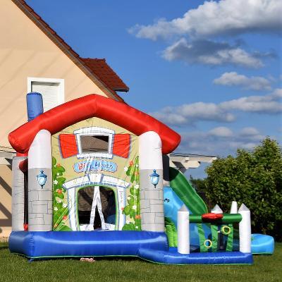 Happy Hop skákací hrad Velký dům 9 v 1 se skluzavkou
