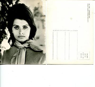 Sophia Loren, pohlednice, MFF K. vary 1964