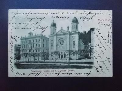 Karlovy Vary Mariánské lázně Marienbad Synagoga Izrael  Žid Judaika