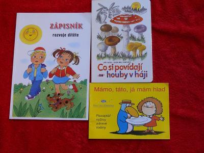 Zánovní dětské dvě knížky + Zápisník rozvoje dítěte