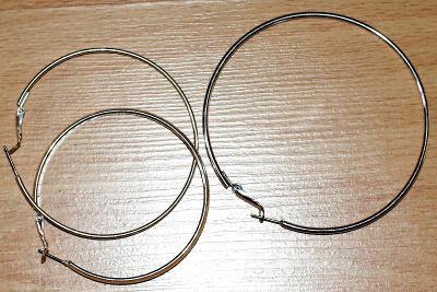 Náušnice stříbrná kruhová