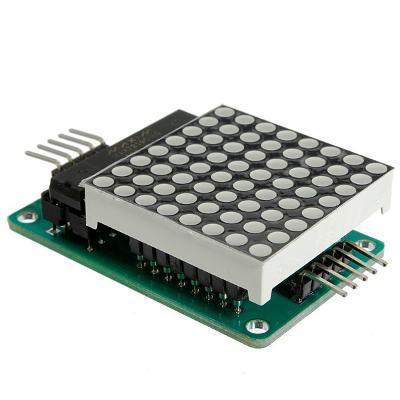 LED Dot Matrix - maticový displej - červený s řadičem