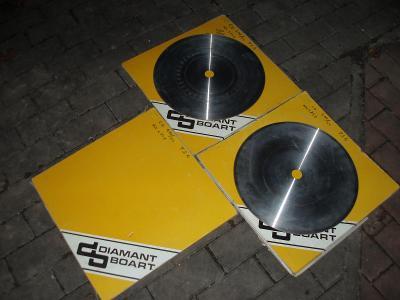 3ks kotouču - DIAMANT BOART - pruměr 39cm - vyrobeny v roce 1986
