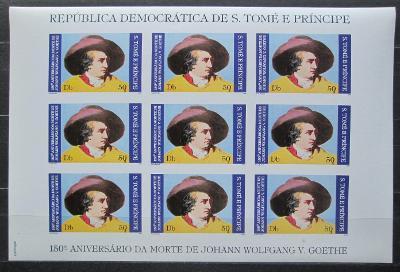 Svatý Tomáš 1982 J. W. Goethe neperf. RARITA Mi# 1765 B Kat 180€ 1746