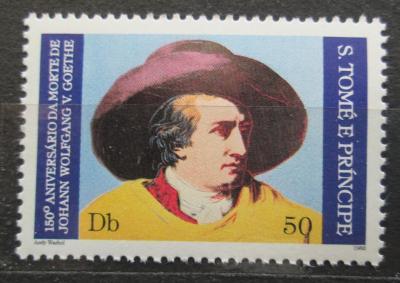 Svatý Tomáš 1982 Johann Wolfgang von Goethe Mi# 765 A Kat 9€ 1772