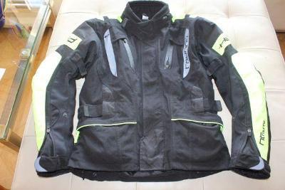 pánská bunda na motorku znač.vel M + kož.rukavice