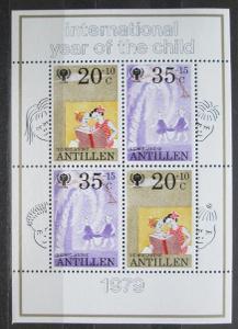 Nizozemské Antily 1979 Mezinárodní rok dětí Mi# Block 11 0283