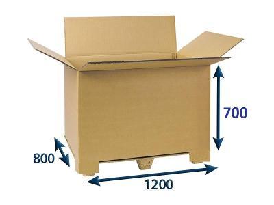 Přepravní EUROBOX 120 x 80 x 70 klopový / palbox - 50 kusů