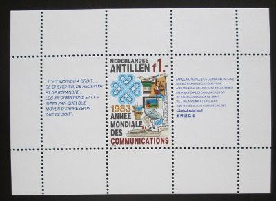 Nizozemské Antily 1983 Mezinárodní den komunikace Mi# Block 24 0093
