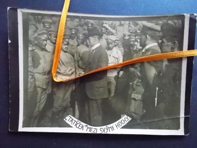 Originál foto legie legionáři návrat do vlasti Prezident Masaryk