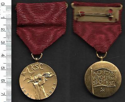 Vyznamenání komunismus - 50. výročí KSČ /FA-VZ°52