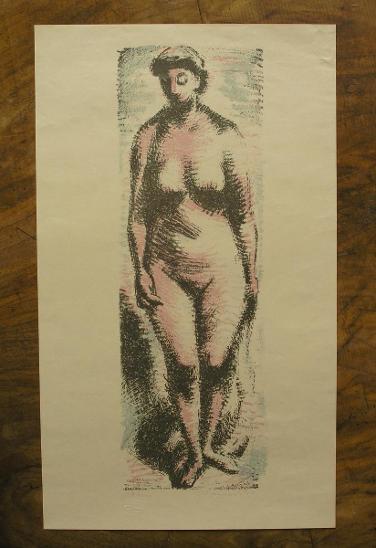 J. Kaplický 1942 - Orig. litografie - (J227) - Starožitnosti