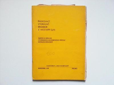 Řádkovací vyorávač brambor Z 610/0 (KPP-2pH), AGROMET-MOTOIMPORT, 1972