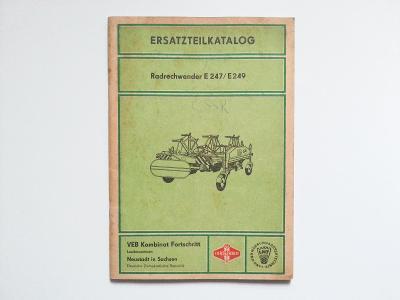 Obraceč a shrnovač sena Fortschritt E247/E249 - katalog ND, 1973