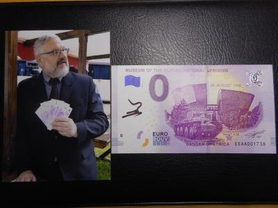 Eurobankovka pamatnik SNP B.B. s podpisem gen.reditele Miceva UNC,RR