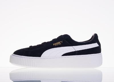 Kožená obuv PUMA Suede Platform JR - vel. 38,5