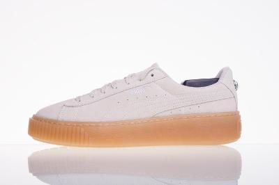Kožená obuv PUMA Suede Platform Jewel JR - vel. 38,5