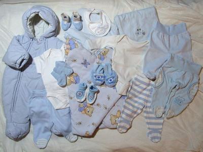 Set pro novorozence, pro Šmoulíka - zavinovačka, deka, polodupačky...