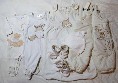 Set kojeneckého oblečení vel. 62 - 68, neutrální barvy