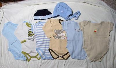 Set kojeneckého oblečení - 6x body, vel. 86