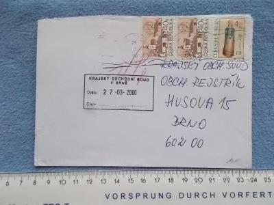 Celistvost  dopis obálka soud Brno
