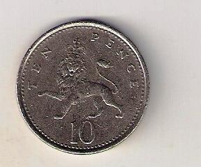 Velká Británie 10 Pence 1992