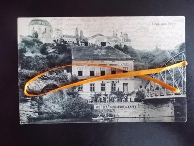 Znojmo Vranov Dyje železný most cukrárna kavárna Wittek