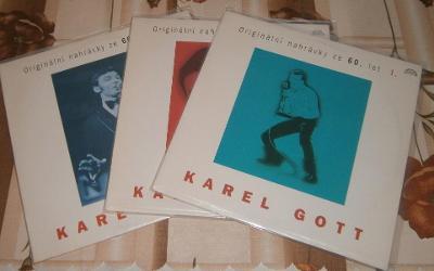 LP-Karel Gott - Originální nahrávky ze 60.let 1,2,3 / Perfektní stav!
