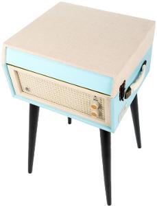Gramofon GPO Retro Bermuda - modrá, nový, nepoužitý, v záruce.