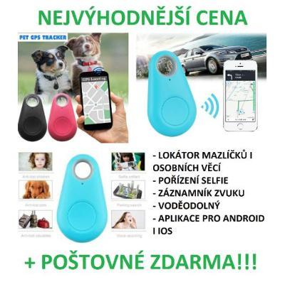 GPS lokátor pro psy, kočky i osobní věcí s poštovným ZDARMA (Černá)