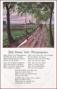 Krajina * lidé, stromy, cesta, báseň, umělecká * M4456